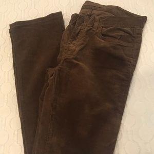 J Brand Corduroy Brown Pants